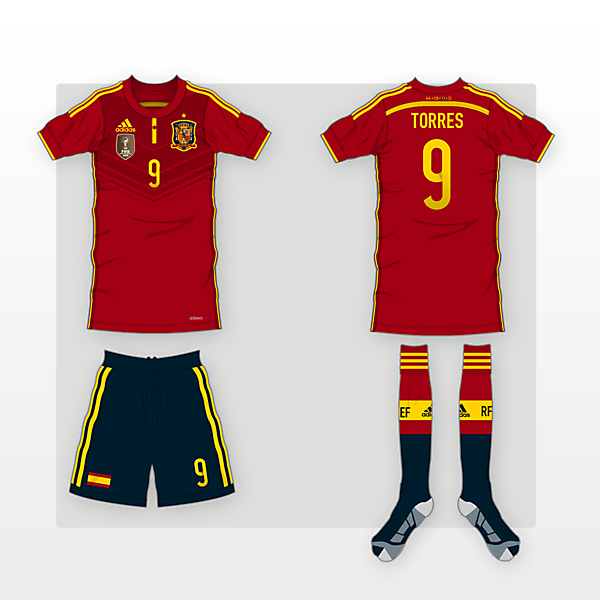 Spain Home Kit - 2014 WC Competition