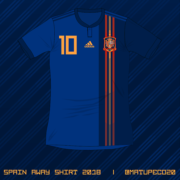 Spain WC 2018 away shirt