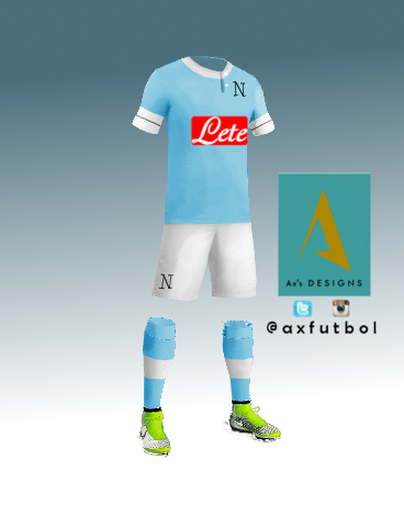 SSC Napoli Home Kit. Ax's design