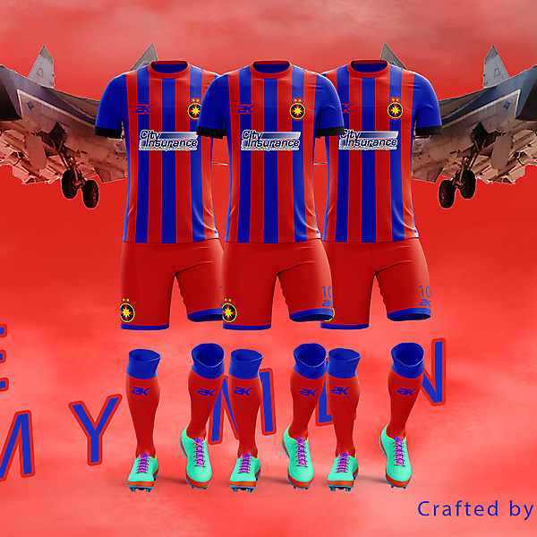 Steaua Bucharest - Home kit// Romanian Derby + Youtube video