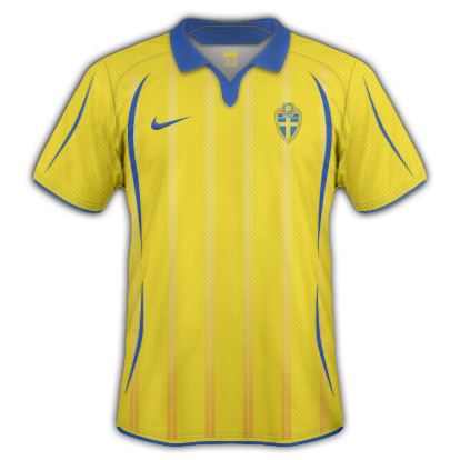 Sweden 2010 Home Shirt