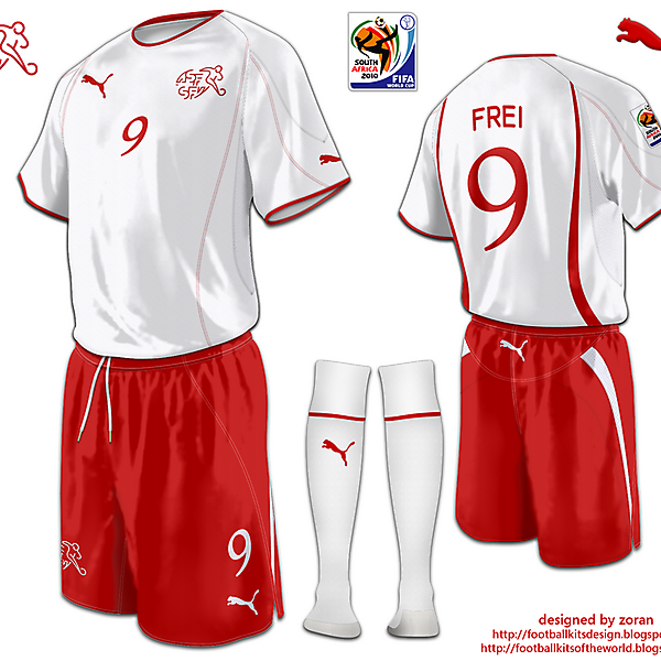 Switzerland World Cup 2010 fantasy away