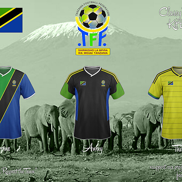 Tanzania Home, Away and Third Fantasy Kit