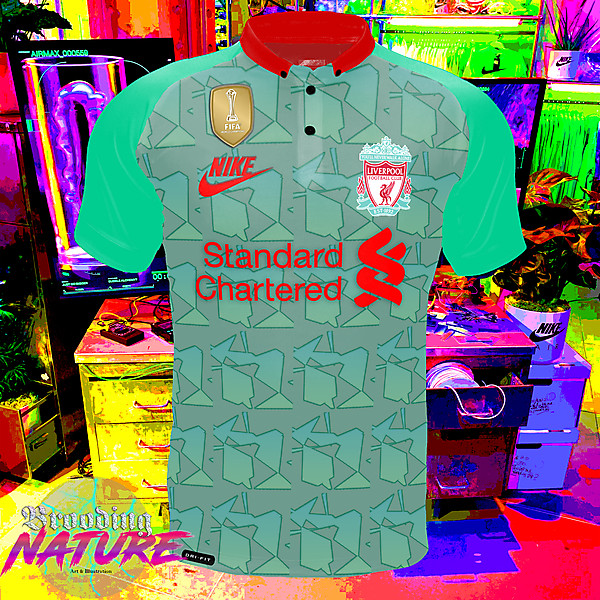 Teal green nike LFC third kit concept