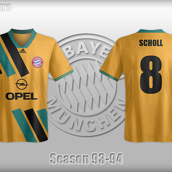 Retro Bayern Munich Kit,Season 93-94