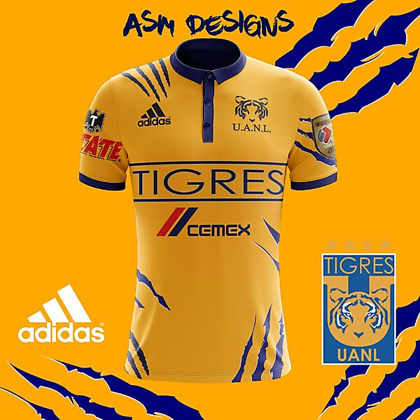 Tigres UANL 2018 Adidas Home Kit