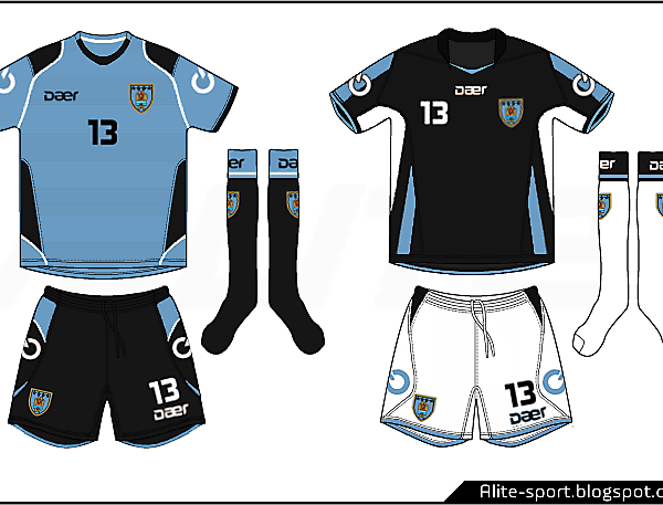 Uruguay Daer Home and Away Kits