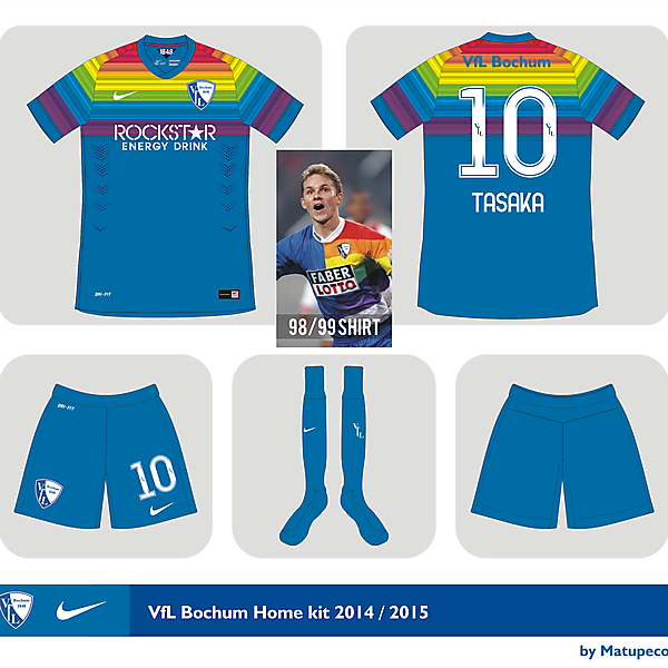 VfL Bochum home kit 2014 - 2015