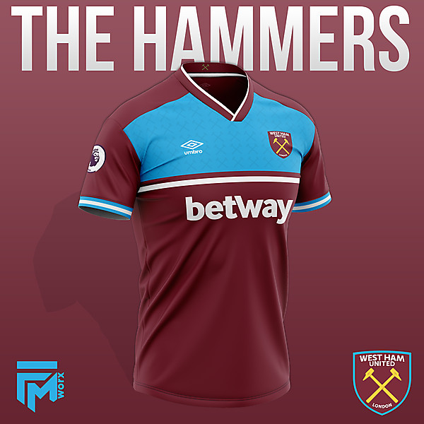 West Ham United 2020/21 Home Concept