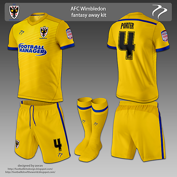 AFC Wimbledon home & away