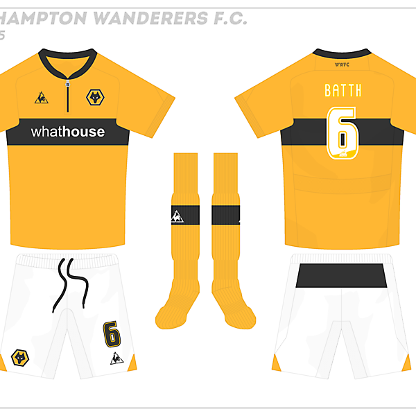 Wolves Le Coq Sportif Home Kit