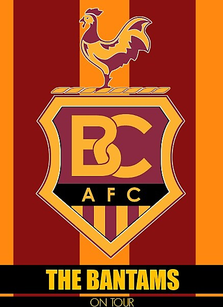 Bradford City On Tour Sticker