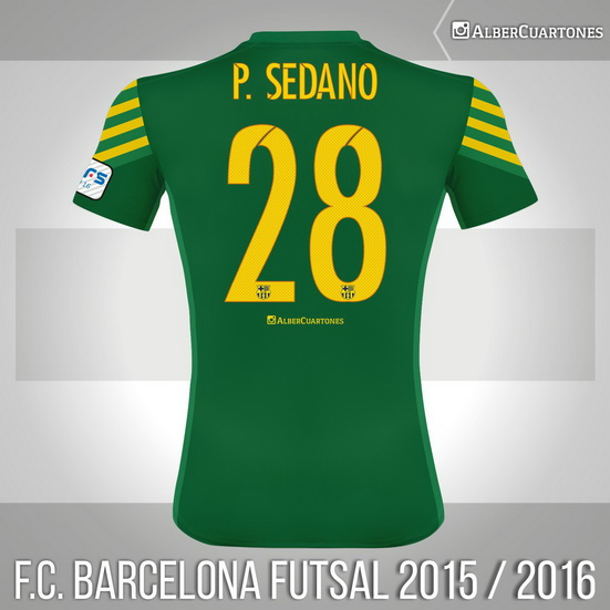 F.C. Barcelona Futsal 2015 / 2016 Goalkeeper Shirt