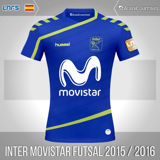 Inter Movistar Futsal 2015 / 2016 Home Shirt