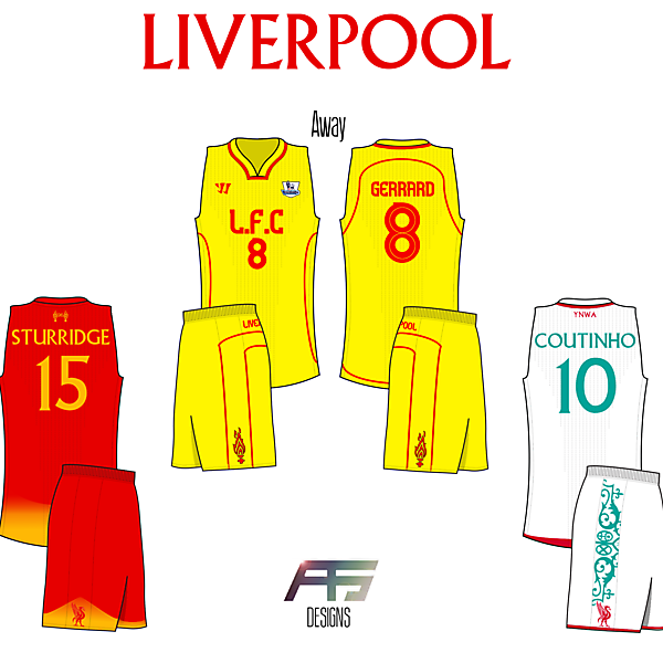 Liverpool FC [If Soccer (Football) Teams Had BasketBall Jerseys]
