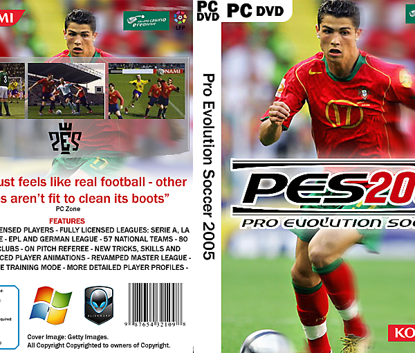 PES 4 Cover in current design language