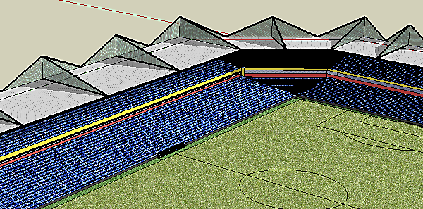 English Style Football Stadium.
