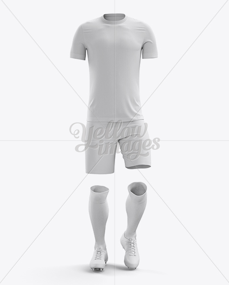 Short Sleeved Football Kit Mockup - Front View