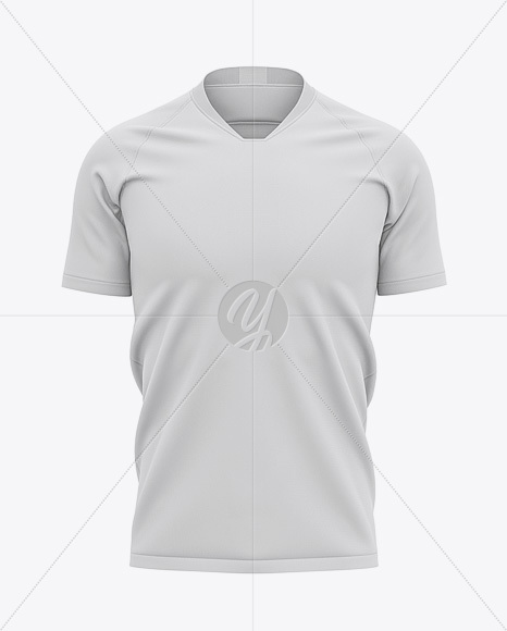 V-Neck Football Jersey Mockup – Front View