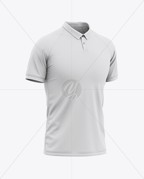 Polo Collar Football Jersey Mockup - Front Half Side View