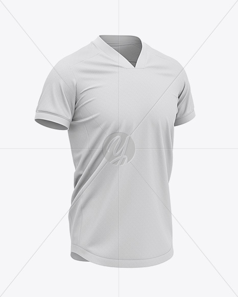 V-Neck Football Jersey Mockup – Front Half-Side View