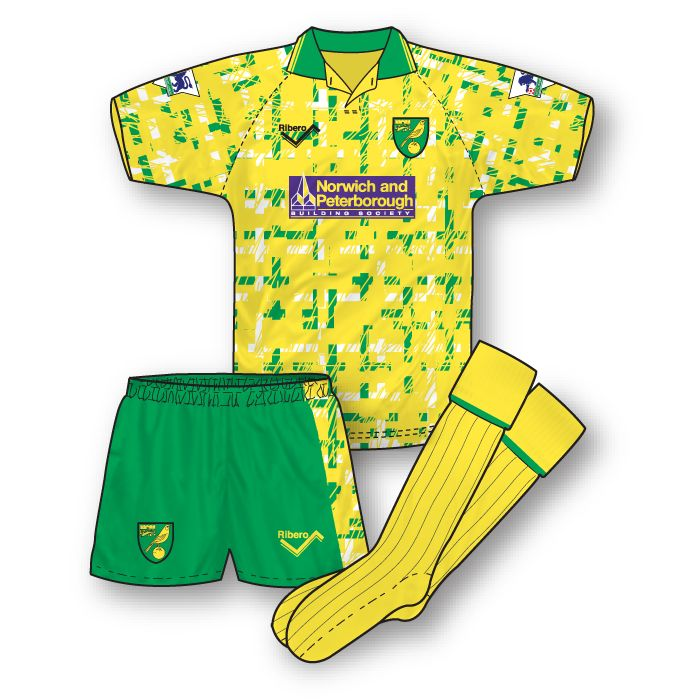 Norwich City 1992-93 Home Kit