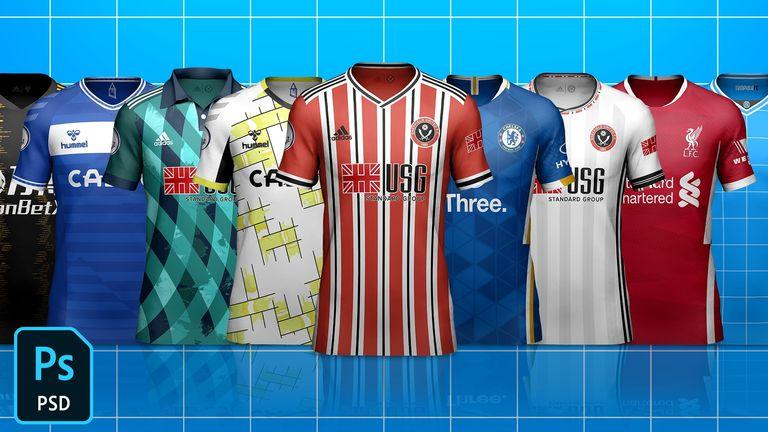 Kit Builder Soccer/Football Template Mock-Up