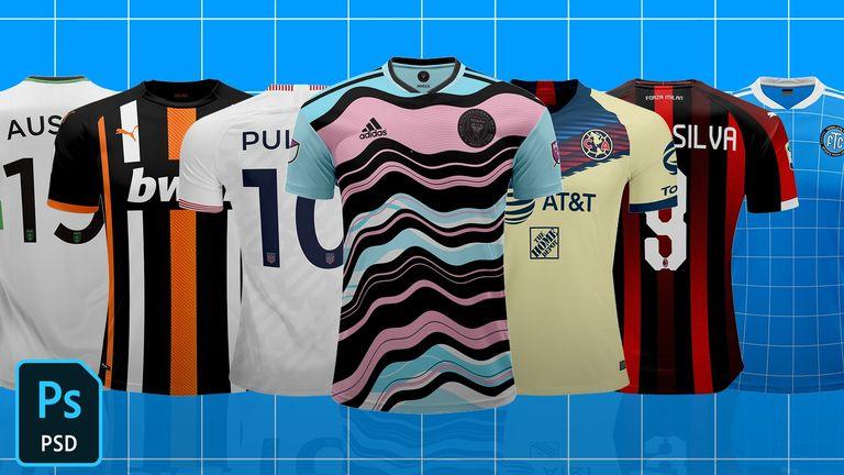Standard Top Football/Soccer Jersey Template Mock-Up