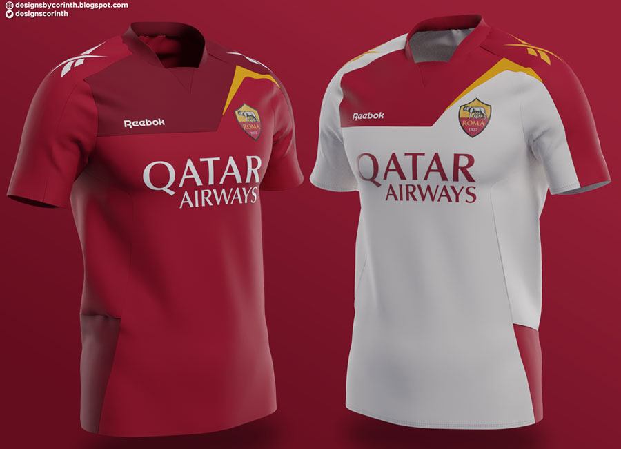 AS Roma X Reebok Concept Shirts by Corinth
