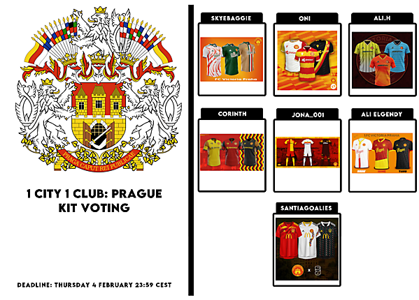 1 CITY 1 CLUB - PRAGUE - PART II - KITS VOTING