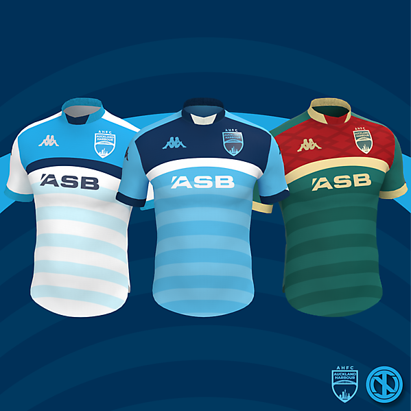 Auckland Harbour   Home, Away and Third Kits