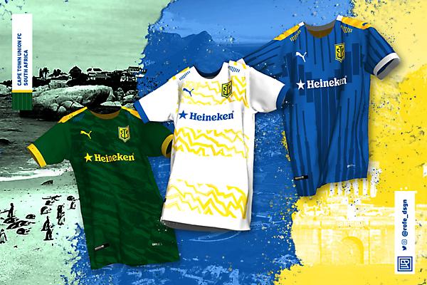 Cape Town Union Football Club | Home, Away & Third Kits x Puma By @rofe_dsgn