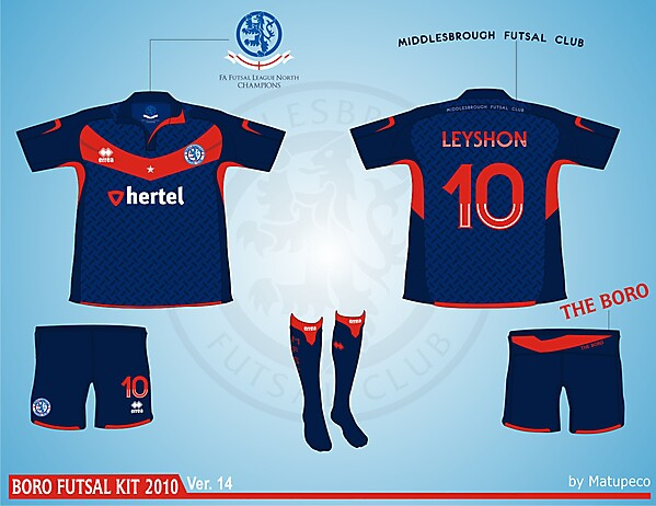 Middlesbrough Futsal Club Kit - Version .14