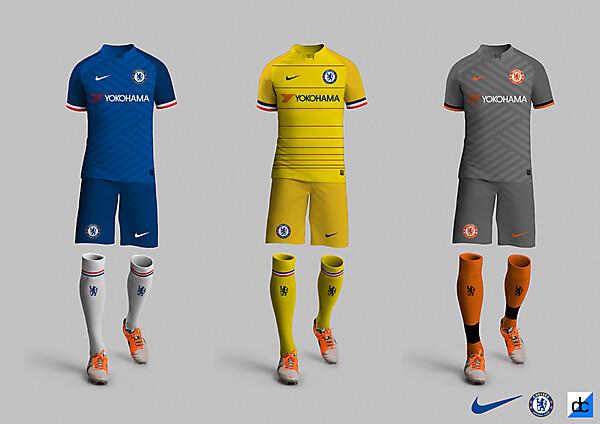 Chelsea 2017/18 Kits
