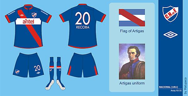 Nacional away kit version 01