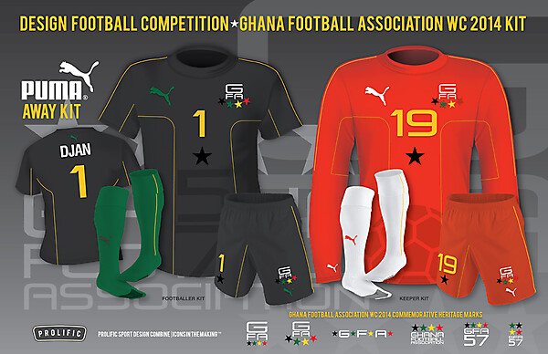 GFA WC 2014 Away Kit
