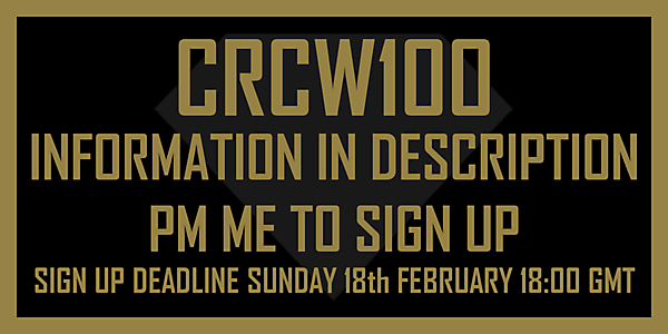 CRCW100 - SIGN UP