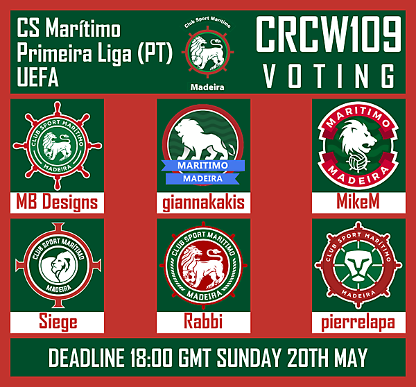 CRCW109 - VOTING [EXTENDED TO 27TH MAY]