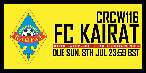 CRCW116 - FC KAIRAT