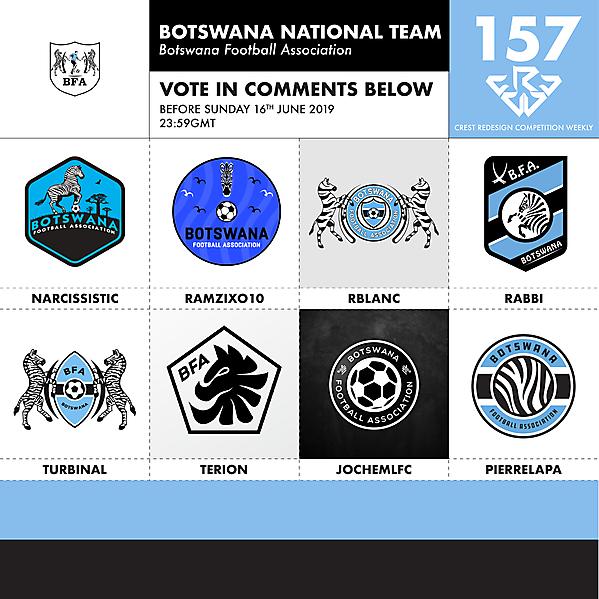 CRCW 157 BOTSWANA FA VOTING