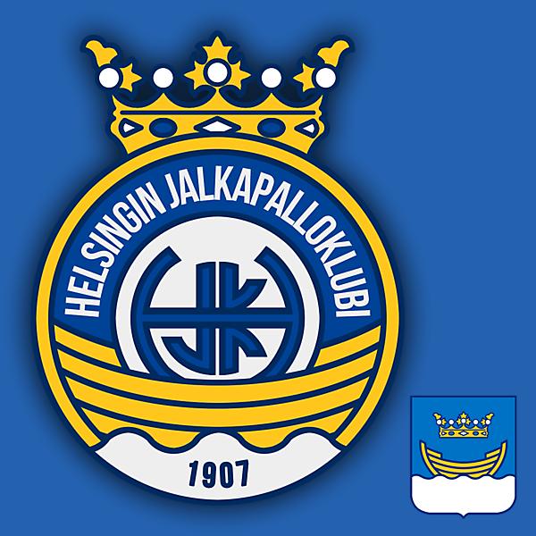 HJK Helsinki Crest Redesign