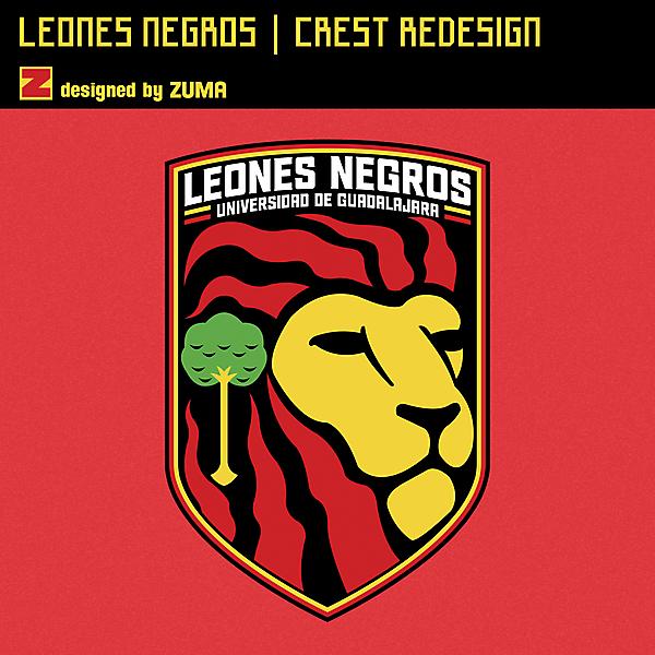Leones Negros | Crest Redesign