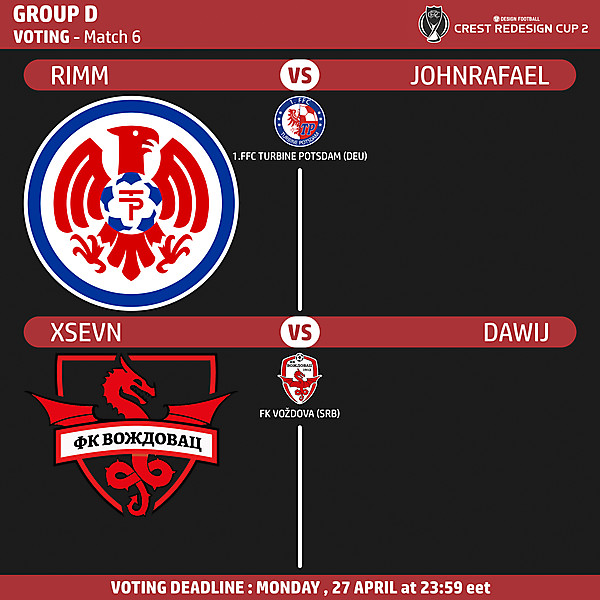 Group D - Voting - Match 6