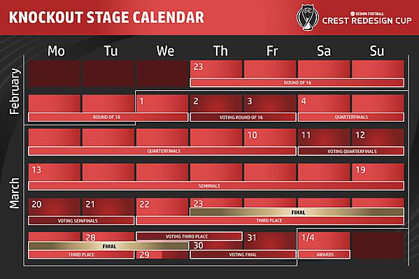 Knockout Stage Calendar