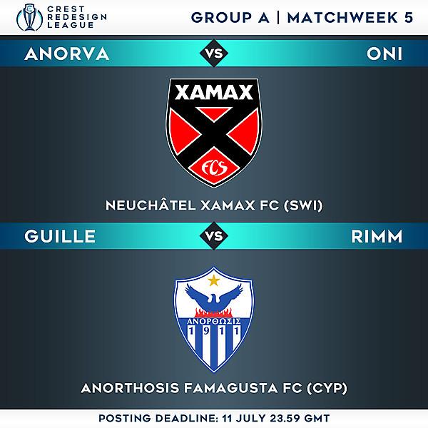 Group A - Matchweek 5