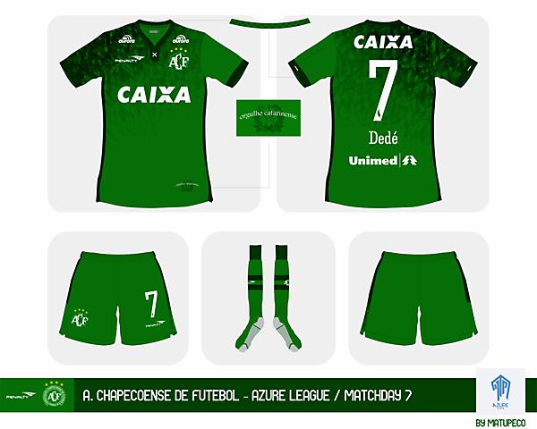 A. Chapecoense de Fútebol home kit - Azure League Matchday 7