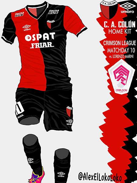 C. A. Colon Home Kit (Crimson League-Matchday 10)