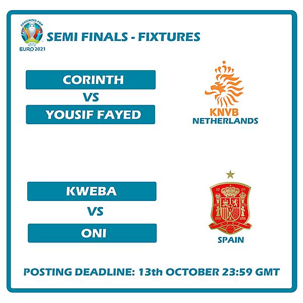 Semi Final Fixtures