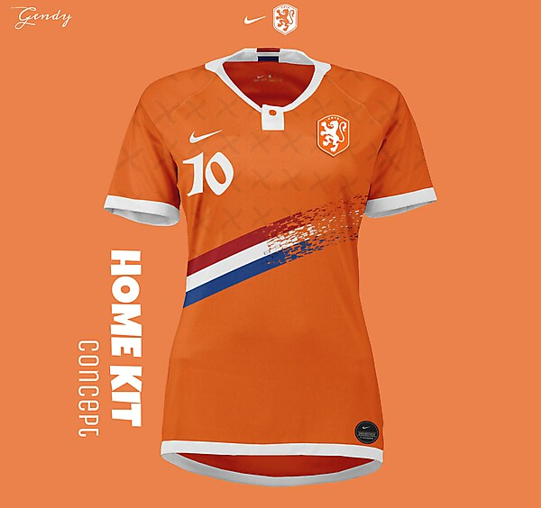 Netherlands women's NT Home Kit Concept