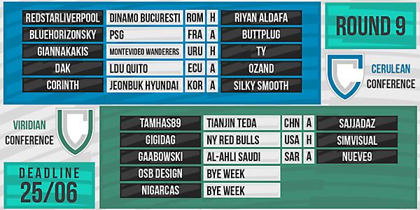 DFSL Round 9 Fixtures